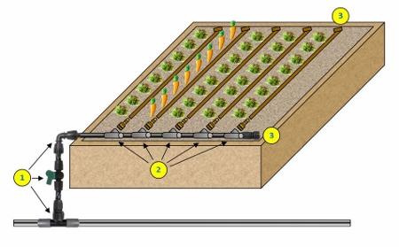 Netafim Techline Ez For Raised Bed Gardening