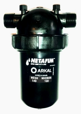 "DF100-140 NETAFIM Disc Filter 1"" MPT x MPT 140 Mesh 22 GPM Maximum Flow"