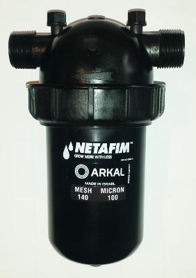 """DF150-140 NETAFIM Disc Filter 1.5"""" MPT x MPT 140 Mesh 35 GPM Maximum Flow"""