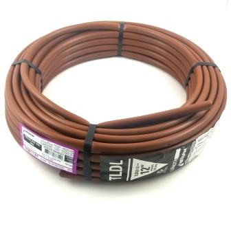"1/4"" x 100' Soaker Hose Dripline 12"" Spacing 1/2 GPH Dripline Irrigation Emitters - Black Tubing"