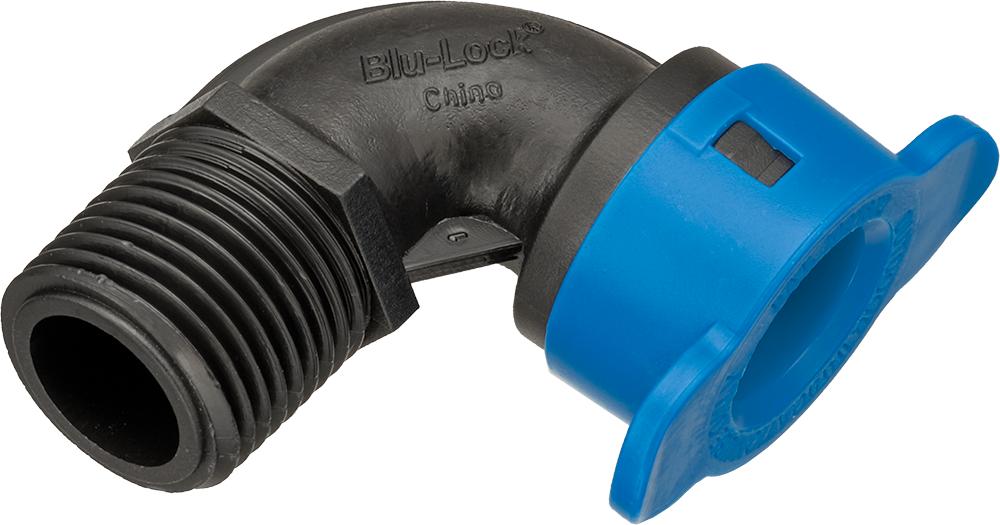 """BL410-005 - 1/2"""" Blu-Lock 1/2"""" BLR x 1/2"""" Mipt Elbow Fitting"""