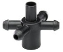 01ADP4WPFS-B - Stackable 4 Way Manifold For Hydroponics and Drip Irrigation