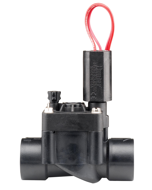 Suinga Pack 4 x ELECTROV/ÁLVULA DE RIEGO 1 24V PGV-101MM Hunter Rosca Macho con Regulador de caudal
