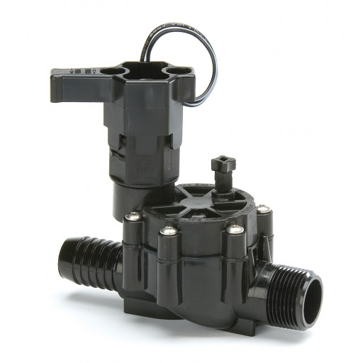 "RB 100DV MB - 100DVMB - 1 in. DVMB Series Inline Plastic Residential Irrigation Valve - 1"" Male x Barb"