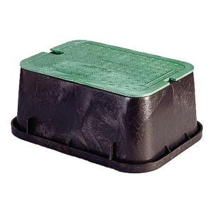 "NDS  115TBC - NDS PRO Valve Box - 14"" x 19"" x 6"" Black/Green"
