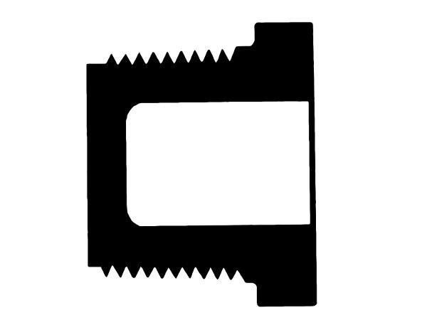 "450-010 - Schedule 40 PVC Plug Mipt 1"""