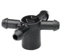 01ADP4WPF-B - Top Flat 4 Way Manifold For Hydroponics and Drip Irrigation (C4A2)