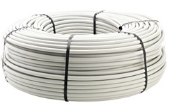 """PE820940-05W - 3/4"""" x 500' .940 OD 820 ID Poly Tubing - White Pre-Punched at 6"""""""