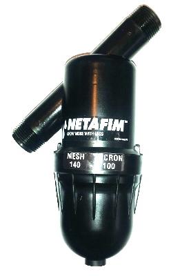 """DF075-140 - Netafim Disc Filter 3/4"""" MPT x MPT 140 Mesh w/Shut-Off Valve 17 GPM Max Flow"""