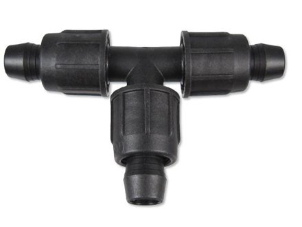 DL-T600 - Drip Irrigation Perma-Loc Tee .600 ID - 700 or 710 Tubing.